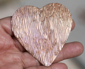 Buy Huge Heart 63mm x 61mm 22g Woodgrain Pattern Blank Cutout for Enameling Stamping Texturing Soldering Blanks Variety of Metals online