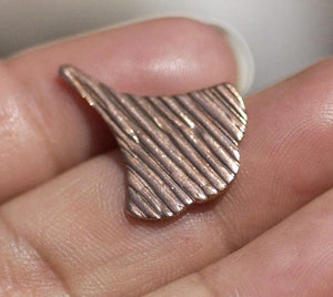 Arabic Fan  22mm x 17mm Shape in Textured Patterns  - Variety of Metals