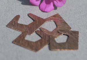 Buy Woodgrain Hoops Diamond for Earrings or Pendant Pattern 24g for Stamping Texturing Blanks Variety of Metals online