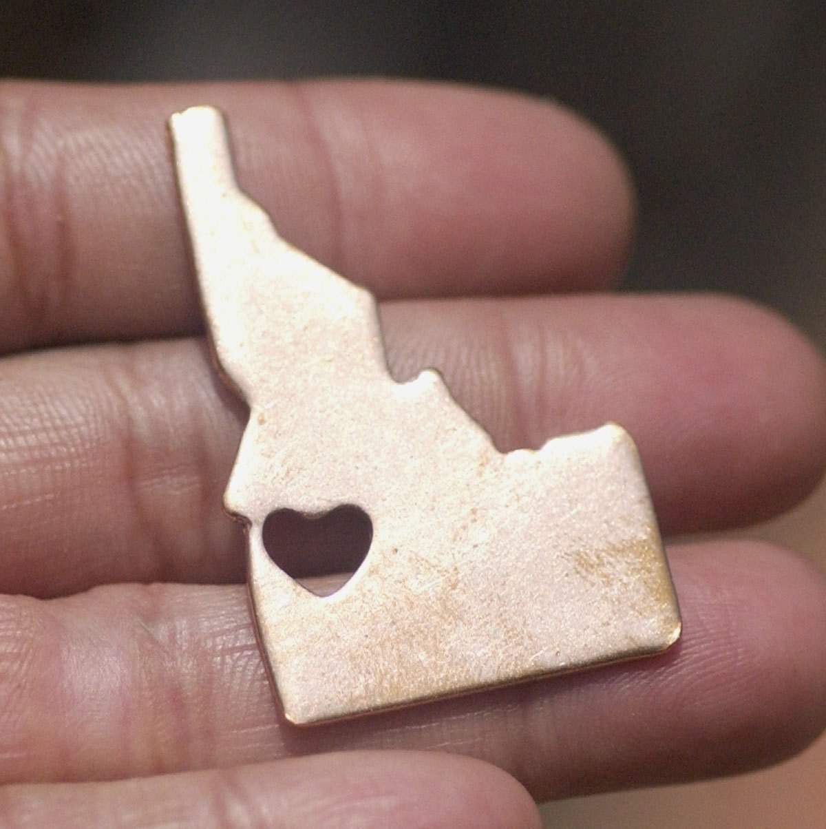 Idaho State With Heart Chubby Cutout for Enameling Metalworking Stamping Texturing Blank Variety of Metals