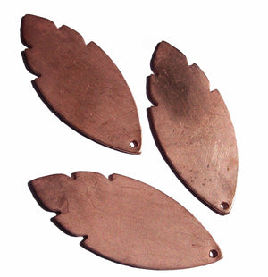 Woodgrain Pattern Leaf 47mm x 19mm Blank Cutout for Enameling Stamping Texturing Blanks Variety of Metals