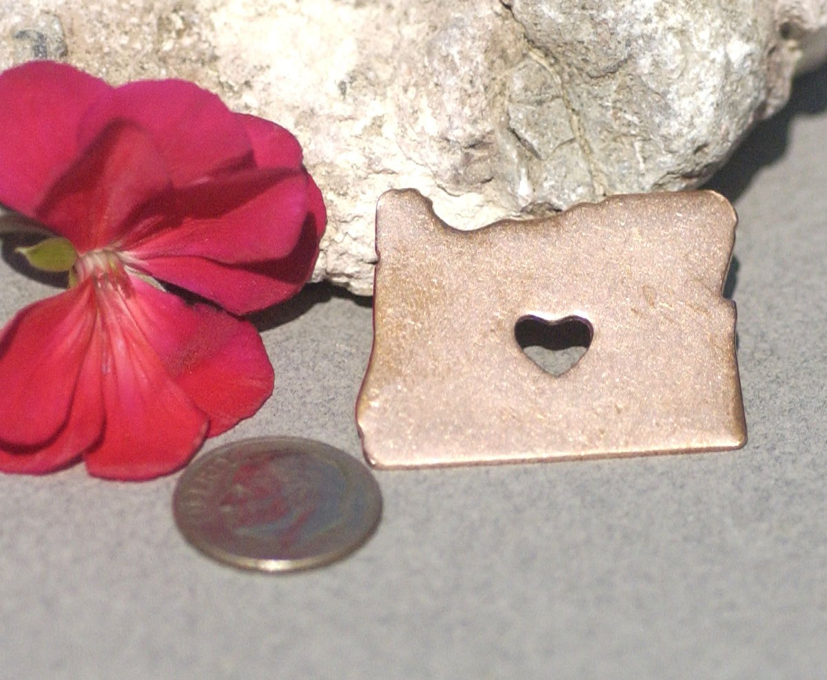 Oregon State Cutout Chubby Heart Blanks for Enameling Metalworking Stamping Texturing Blank Vaiety of Metals