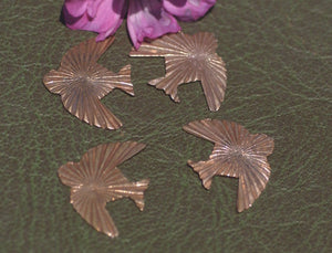 Ruffled Pattern Bird Flying Sparrow for Blanks Enameling Stamping Texturing Variety of Metals - 5 pieces