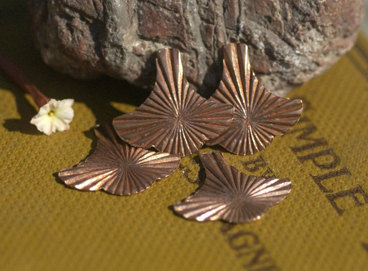 Arabic Small  Fan Ruffled Pattern, Shape Cutout Blank for Stamping Texturing Metalworking Jewelry Making Variety of Metals