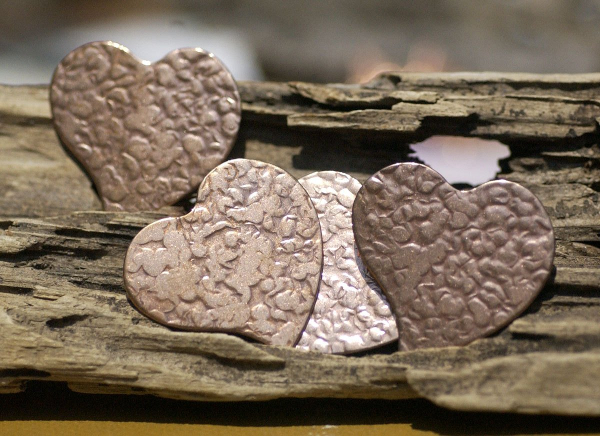 Heart Antique Hammered Sun 30mm x 32mm Blanks for Enameling Metalworking Stamping Texturing Blanks Variety of Metals