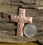 Religious Cross Antique Hammered Blanks Cutout for Enameling Stamping Texturing Variety of Metals