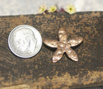Small 5 Petal Flower Antique Hammered 21mm 20g for Blanks Enameling Stamping Texturing Variety of Metals - 6 pieces