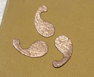 Paisley Antique Hammered Pattern 28mm x 15mm 20g for Blanks Enameling Stamping Texturing Soldering Variety of Metals