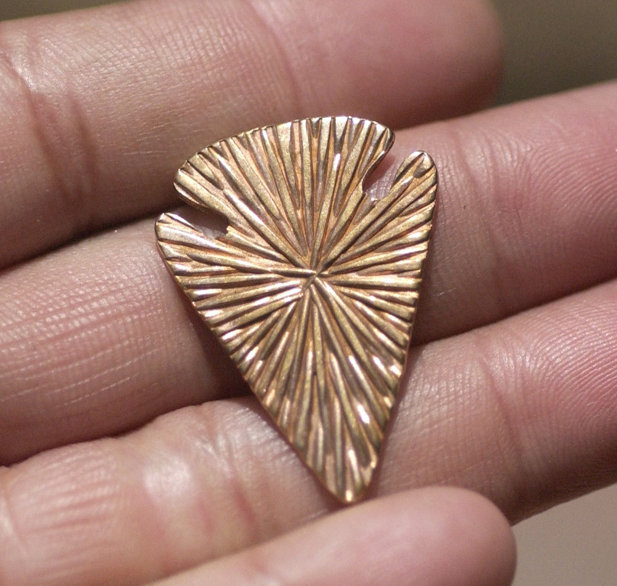Radiating Sun Arrowhead Blanks Cutout Shape for Enameling Metalworking Soldering Blank Variety of Metals - 4 pieces