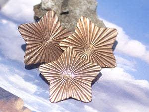 Star Ruffled Pattern 36mm for Enameling Stamping Texturing Soldering Shape Charms Jewelry Making Variety of Metals