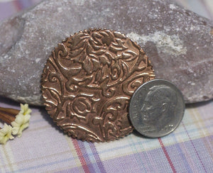 Gear Cog in Lotus Flowers 35mm Cutout Cutout for Enameling Stamping  Blanks Texturing Variety of Metals - 4 pieces