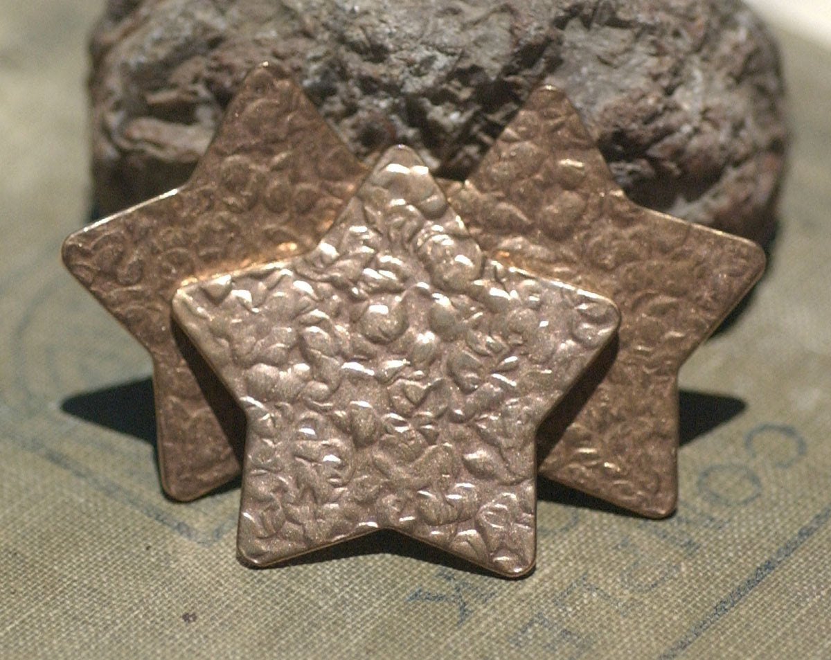 Star Antique Hammered 36mm 24g for Enameling Stamping Texturing Soldering Shape Charms Jewelry Making Variety of Metals - 5 pieces