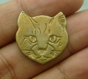 Cat Face Cutout for Soldering Blanks Stamping Texturing- Variety of Metals
