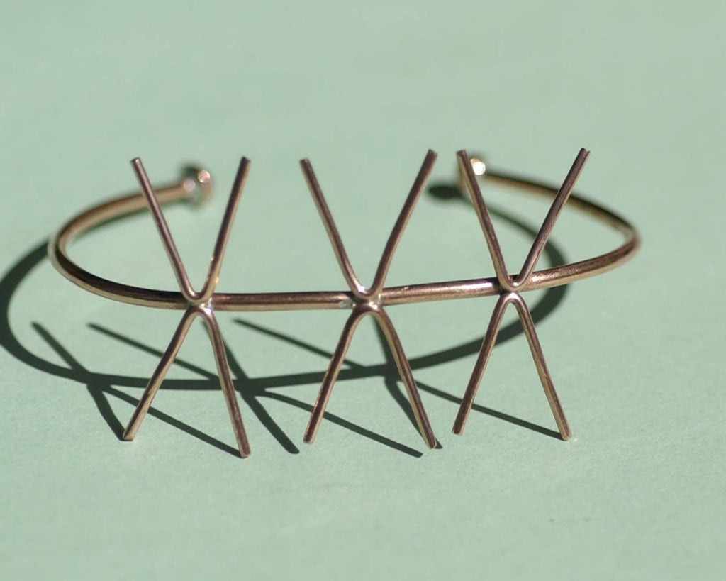 Buy Copper Cuff Bracelet with 4 Prongs - Three Claws for Jewelry Making Supplies online