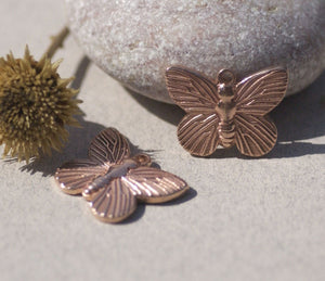 Butterfly Flutterbug 18mm x 14mm Metal Blanks Shape Form Variety of Metals