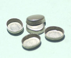 Oval Bezel Cups Blanks - 30g - 11mm x 9mm Inside Dimension for Enameling Supplies - Jewelry Variety of Metals