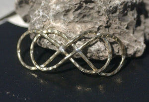 Bronze Handmade Domed Infinity Symbol Centerpiece Focal Point Finding - Jewelry Designing Findings - 1 Piece