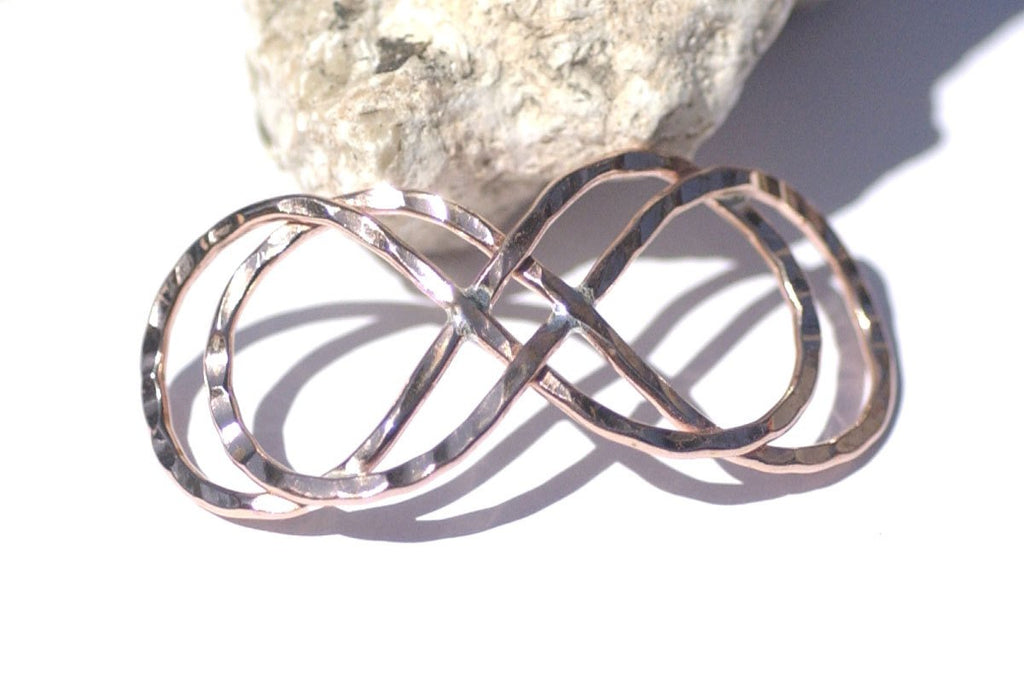 Copper Handmade Domed Infinity Symbol Centerpiece Focal Point Finding - Jewelry Designing Findings