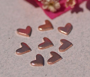 Tiny Lopsided Heart metal blanks, Small heart blank 7mm