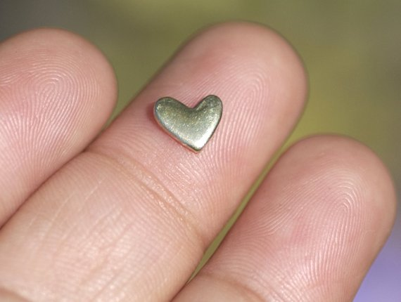 Buy Tiny Lopsided Heart metal blanks, Small heart blank 7mm online