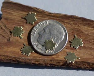 Tiny metal Maple Leaf blanks