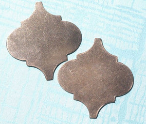 Moroccan inspired blanks for hand stamped tags, layered pendants, earrings, or bracelets