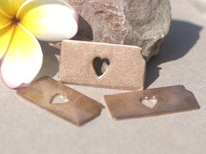Kansas State Cutout Heart Perfect Blanks for Enameling Metalworking Stamping Texturing Blank Variety of Metals