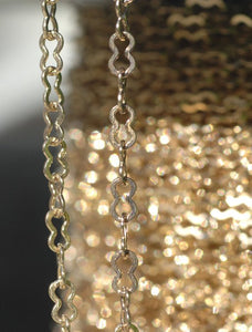 Pinched Chain Bronze - Soldered