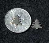 Tiny metal Pine Tree blanks, Christmas Tree