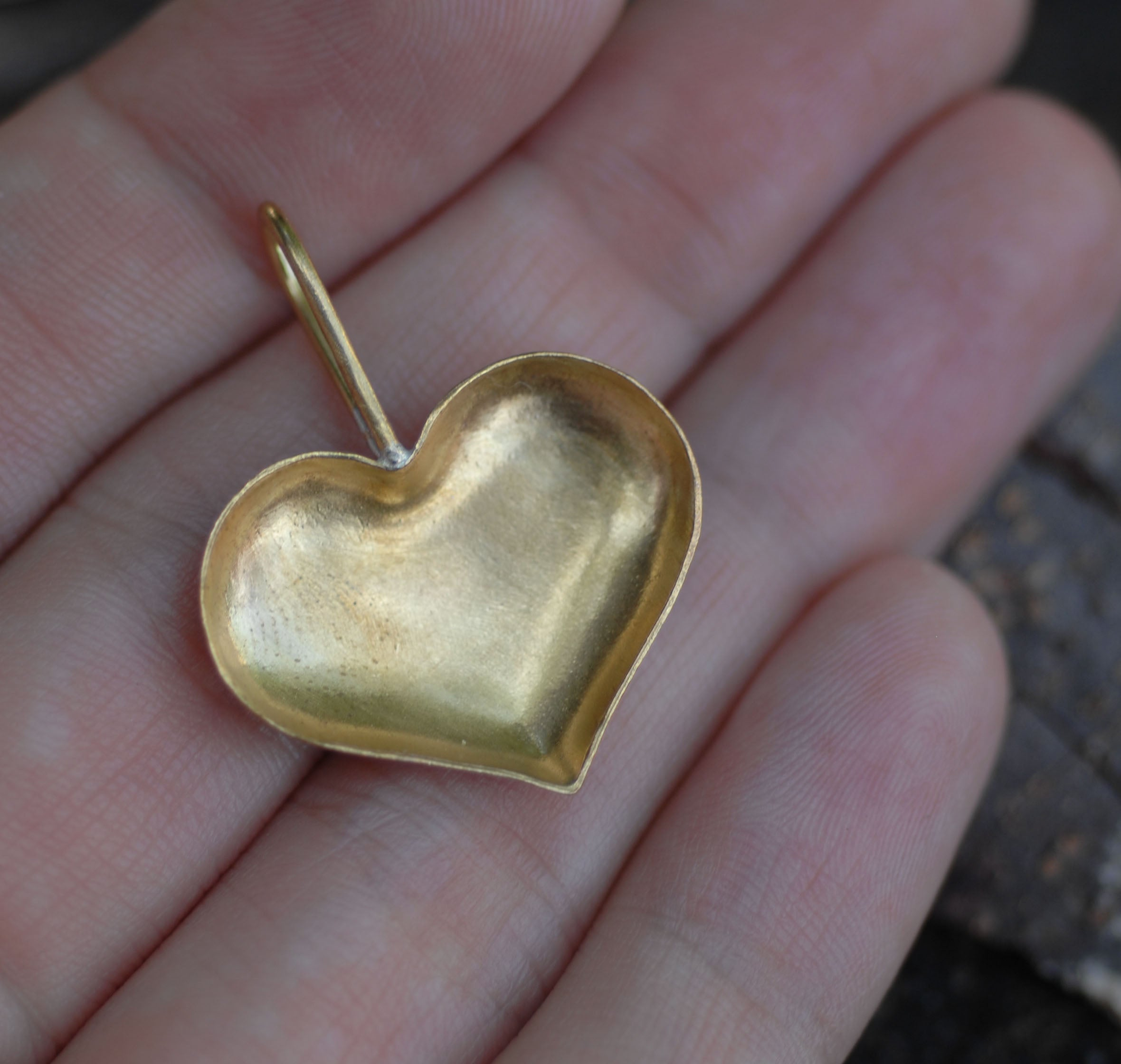 Bezel Cup Pendant for Resin Jewelry - Heart Pendant 31mm by 24mm