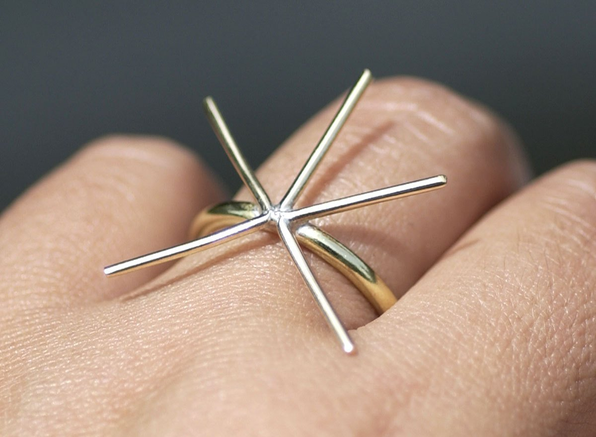 Handmade Claw Ring Setting , Round Shank, 5 prongs