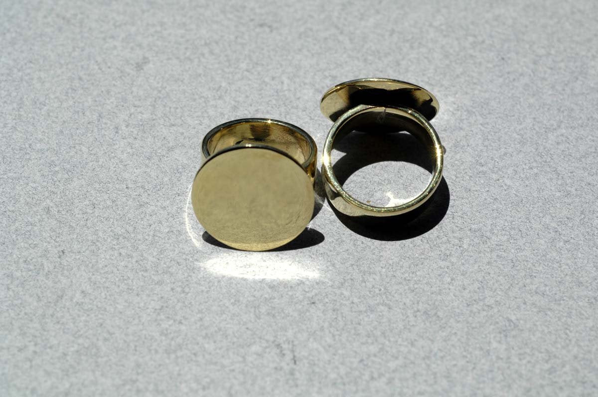 Handmade Glue Pad Ring 20mm Round - DIY Ring