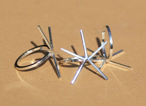 Buy Handmade Claw Ring 100% Sterling Silver For Stone Setting, 5 Square prongs online