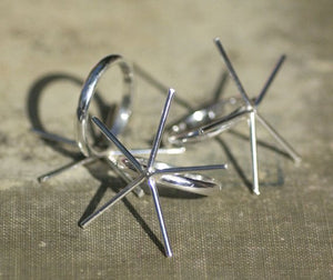 Buy Sterling silver 5 pronged Claw Ring for setting stones, Round wire online
