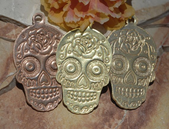 Buy Sugar Skull Blank #4, Traditional Dia de los Muertos, Day of the Dead, 20G online