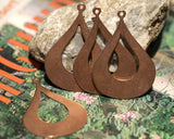 Arabic teardrop blank with cutout for layered pendants, or earrings - DIY Jewelry Supplies by SupplyDiva