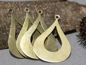 Buy Arabic teardrop blank with cutout for layered pendants, or earrings - DIY Jewelry Supplies by SupplyDiva online