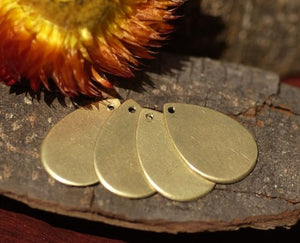 Buy Simple teardrop blank with hole for layered pendants, or earrings - DIY Jewelry Supplies by SupplyDiva online