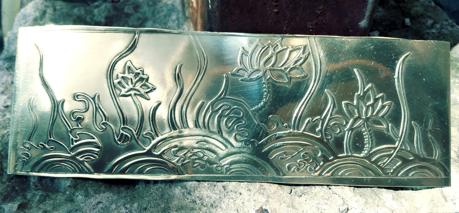Buy Limited Edition: Textured Metal Sheet Lotus Pattern 20g online