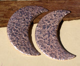 Buy Crescent Moon Textured Metal Blank for Layered Pendants, or Earrings online
