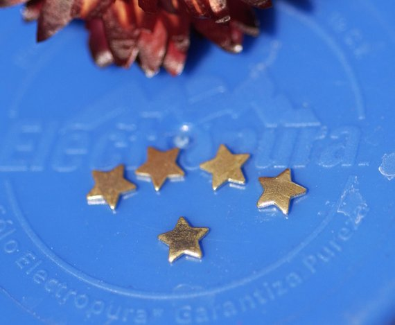 Buy Tiny metal Stars 5mm, Chubby star blanks online