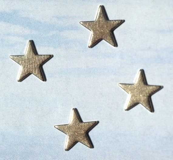 Tiny metal Stars 7mm, Classic star blanks