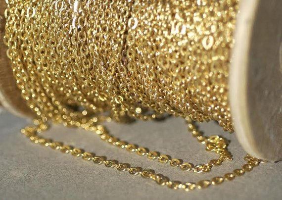 Buy Oval Trace Chain Bronze - Soldered online