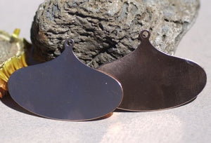 Wide teardrop shaped metal blank for big earrings or pendants