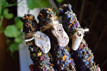 Load image into Gallery viewer, ANCESTORS WITCHES CANDLE | MULLEIN CANDLE | MULLEIN TORCH | HAG TAPERS | HAG STONE