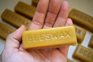 RAW ORGANIC BEESWAX | 1 OZ. BLOCK | UNFILTERED | UNBLEACHED