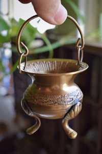 CELTIC KNOT BRASS CAULDRON | INCENSE BURNER | ALTAR BURNER