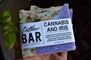 CANNABIS AND IRIS HANDCRAFTED SOAP