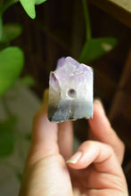 Load image into Gallery viewer, AMETHYST DRUZY CLUSTER CRYSTAL PIPE | SMOKE MEDICINE VESSEL | CRYSTAL PIPE