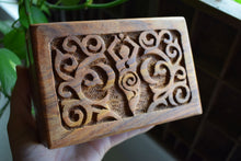 Load image into Gallery viewer, GODDESS OF EARTH WOODEN ALTAR BOX | WOODEN HERB BOX | CRYSTAL BOX